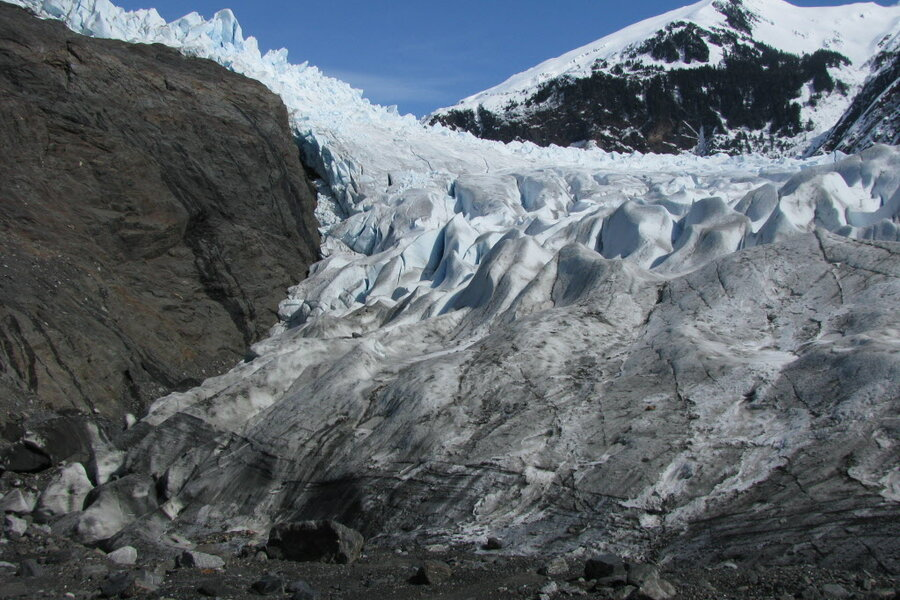 what triggered the massive glacier bay landslide