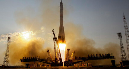 Russia's newly improved rocket launches international crew into space