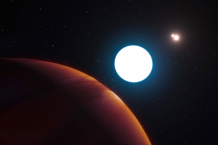 This massive planet has three suns, and that's not all that's weird about it