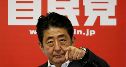 What Abe's stunning win means for Japan's pacifist Constitution (+video)
