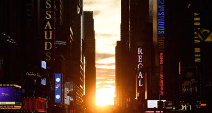 Manhattanhenge marks sun's alignment with the street grid