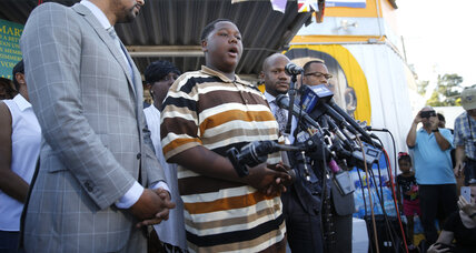 Alton Sterling's teen son urges nation to 'come together as one united family'
