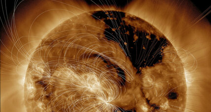 NASA spots giant hole enveloping sun