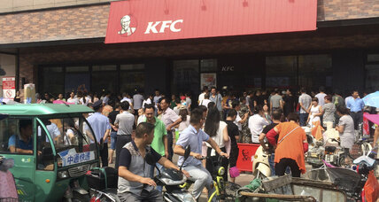 Why are Chinese protesters picketing KFC and smashing iPhones?