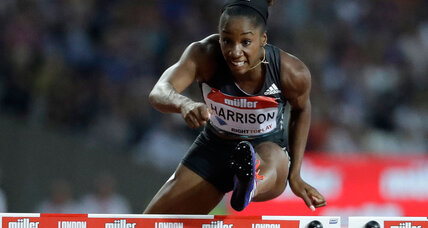 Keni Harrison hurdles from Olympic trials defeat to world record