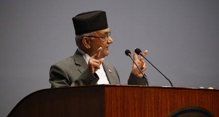 Nepal's prime minister resigns just before no confidence vote