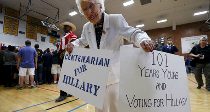 102-year-old Clinton delegate recalls when women couldn't vote