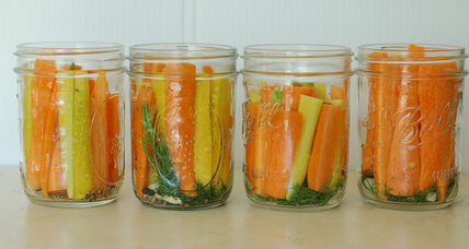 Pickled carrots with coriander and cumin seed