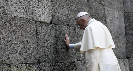 Pope's silent plea from Auschwitz: 'Lord, forgive so much cruelty'