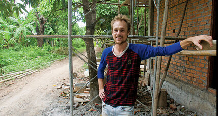 He teaches rock 'n' roll to disadvantaged children in Cambodia