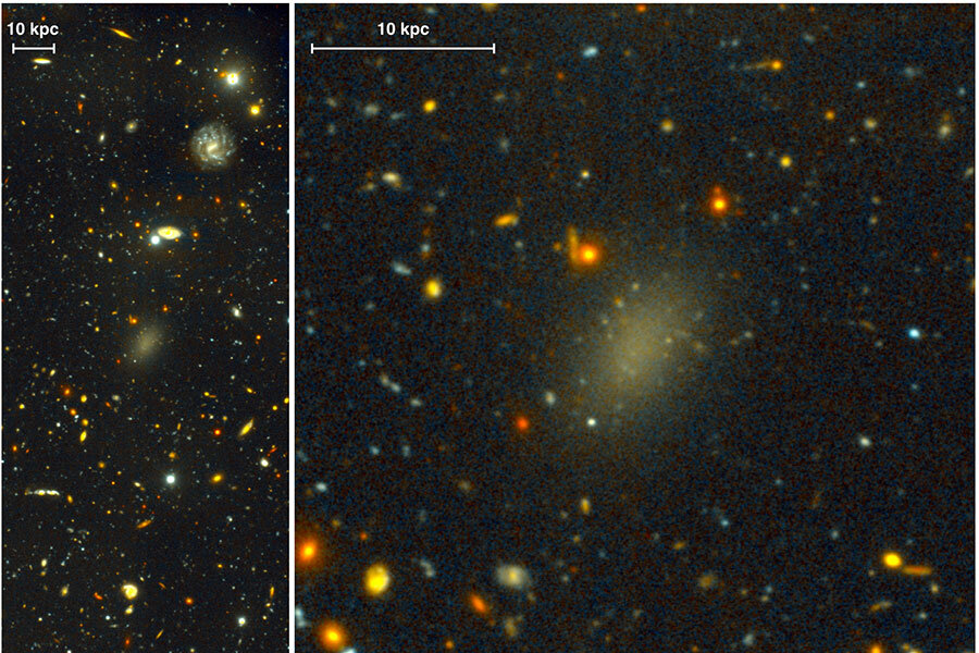 This mysterious galaxy is almost entirely dark matter ...