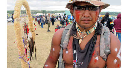 Oil pipeline protests in North Dakota draw native Americans, celebrities