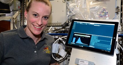 Astronaut becomes first person to sequence DNA in space