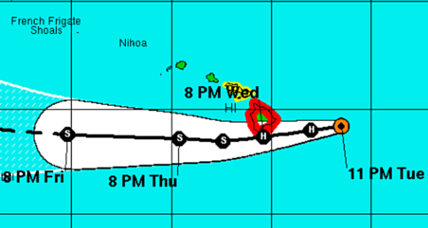 Hawaii braces for first hurricane in 24 years
