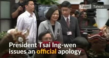 Taiwan president issues historic apology to nation's aborigines