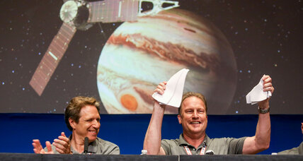 Juno space probe reaches milestone in first lap around Jupiter