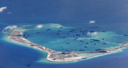 Why did China fly 'combat patrols' over the Spratly Islands?