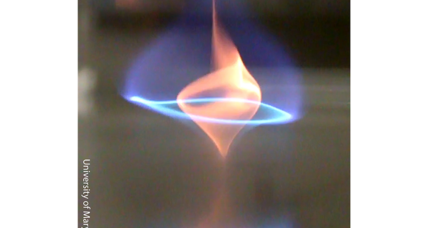Introducing the 'blue whirl,' a new kind of fire