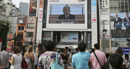 No longer divine, Japanese emperor wins people's hearts with his humanity