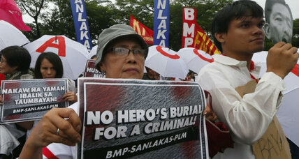 Why Filipinos are protesting a hero's burial for Ferdinand Marcos