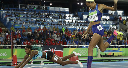 Shaunae Miller's epic dive for Olympic gold in the 400m sprint