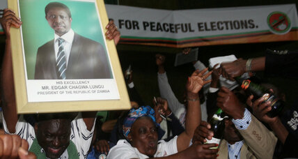 Zambia's president re-elected in close vote