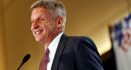Could Libertarian Gary Johnson qualify for the first presidential debate?