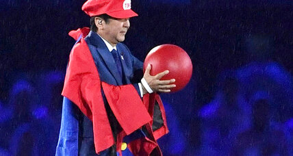 Japan PM Abe appears at Olympics closing ceremony dressed as Mario