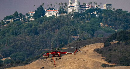California wildfire threatens famed Hearst Castle