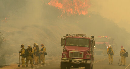 In the dry and windy West, crews fight flames in seven states