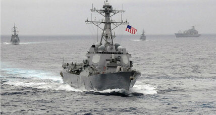 Iranian vessels 'harassed' US destroyer, Pentagon says