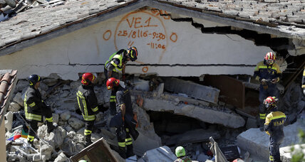 Amid quake's devastation, Italians tap experience to swing into action (+video)