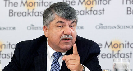 Union leader Trumka: 'no doubt' he can trust Clinton on trade