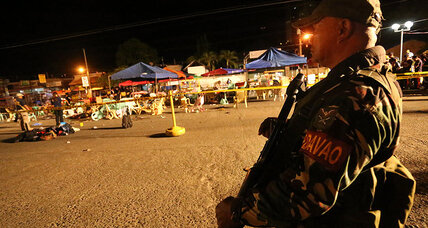 Philippines' president's hometown hit by deadly market blast