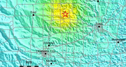 Strong earthquake shakes Oklahoma.  Drilling induced?