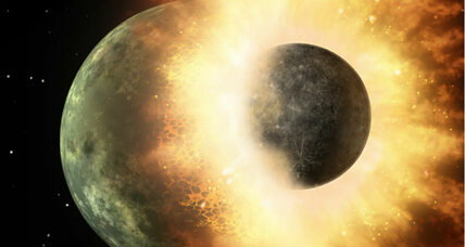 Did a planetary smashup deliver the key ingredients for life?