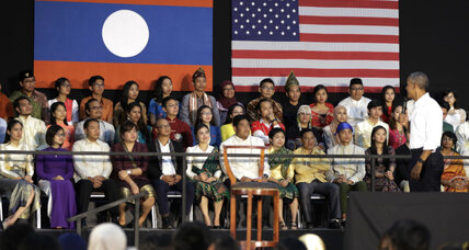 Amid bumpy Asia trip, Obama finds oasis in talking with young people