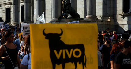 In Madrid, the largest-ever bullfighting protest