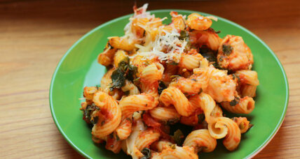 Back-to-school family meal: Italian chicken, pasta, and tomato bake