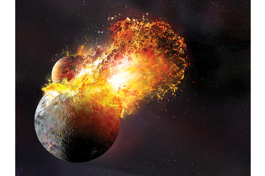 Was the birth of our moon more violent than we thought?