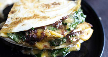 Kale black bean quesadilla
