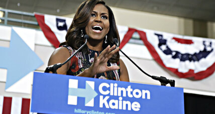 What makes Michelle Obama an effective Clinton campaigner?