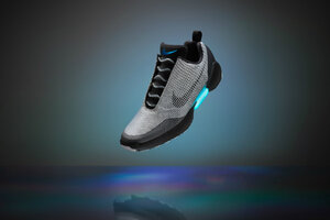 How do Nike's self-lacing sneakers work