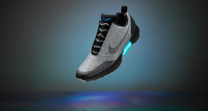 How do Nike's self-lacing sneakers work?