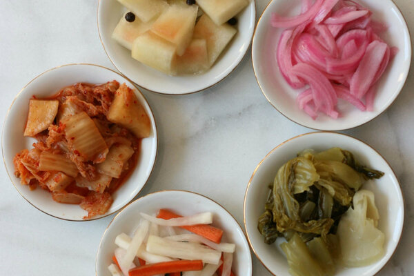 Pickled chinese mustard cabbage csmonitor from top left clockwise watermelon red onion mustard cabbage carrot and daikon and cabbage kimchi pickles forumfinder Images