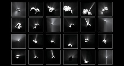 Rosetta pictures of summer fireworks on comet 67P explained