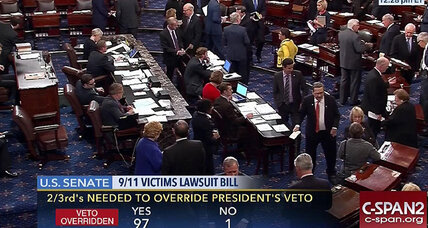 Congress approves 9/11 lawsuit bill, delivering first veto override to Obama