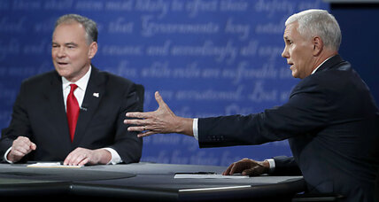 VP debate: Pence was calm and steady, Kaine fiery and pugnacious