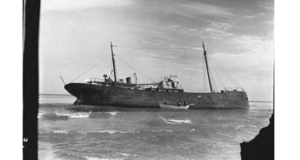 Gone for almost 80 years, 1939 wreck of the Lutzen emerges