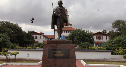 Responding to racism debate, Ghanaian campus intends to move Gandhi statue